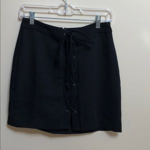 Worn once Madewell lace up mini skirt